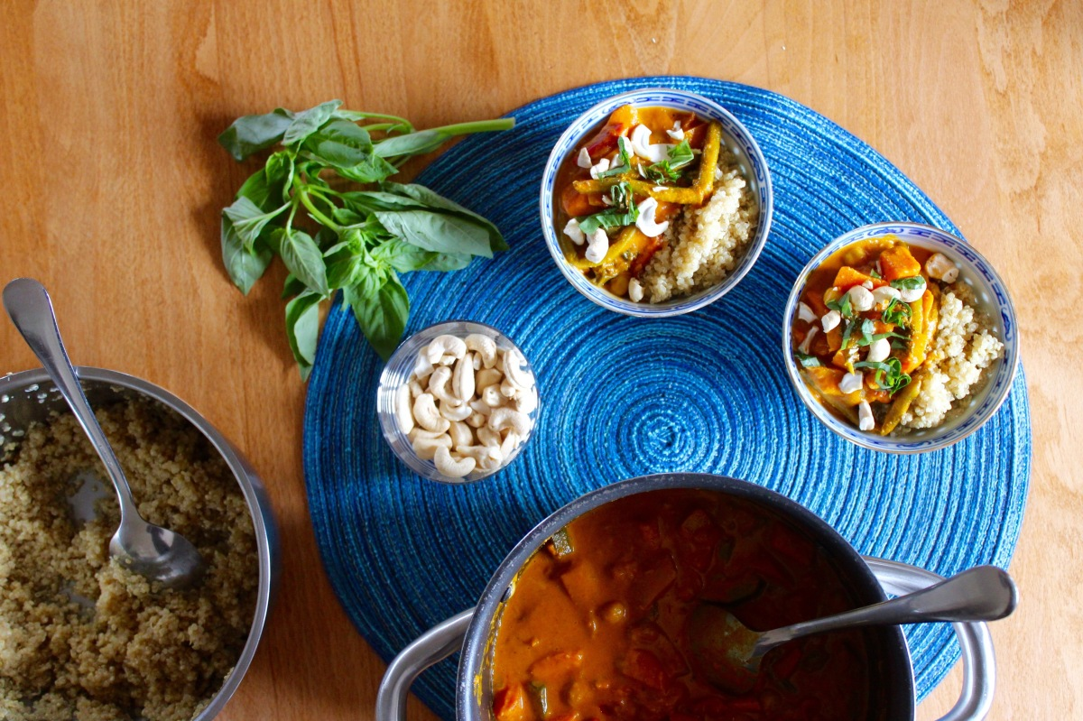 Dinner the glow giver brain food sweet potato chickpeas kale curry forumfinder Choice Image